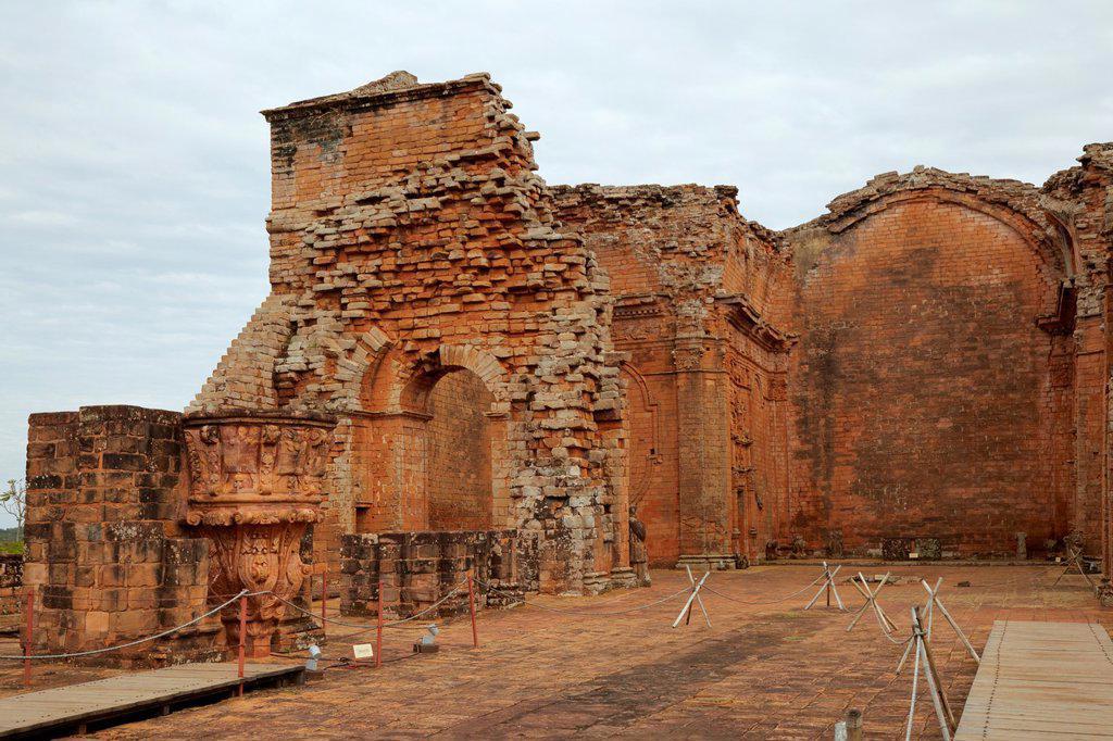 Stock Photo: 1566-1104717 Jesuit Missions of la Santisima Trinidad de Parana, Paraguay