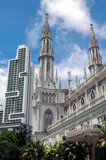 Stock Photo: 1566-1104822 La iglesia de Nuestra Señora del Carmen, Panama City, Republic of Panama, Central America.