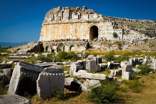Miletus ancient greek city ruins  Aydin province  Western coast of Anatolia  Turkey : Stock Photo