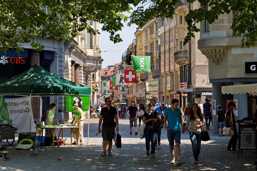 Stock Photo: 1566-1105151 Switzerland, St  Gallen, daily life