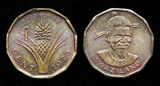 1 cent coin, Swaziland, 1975 : Stock Photo