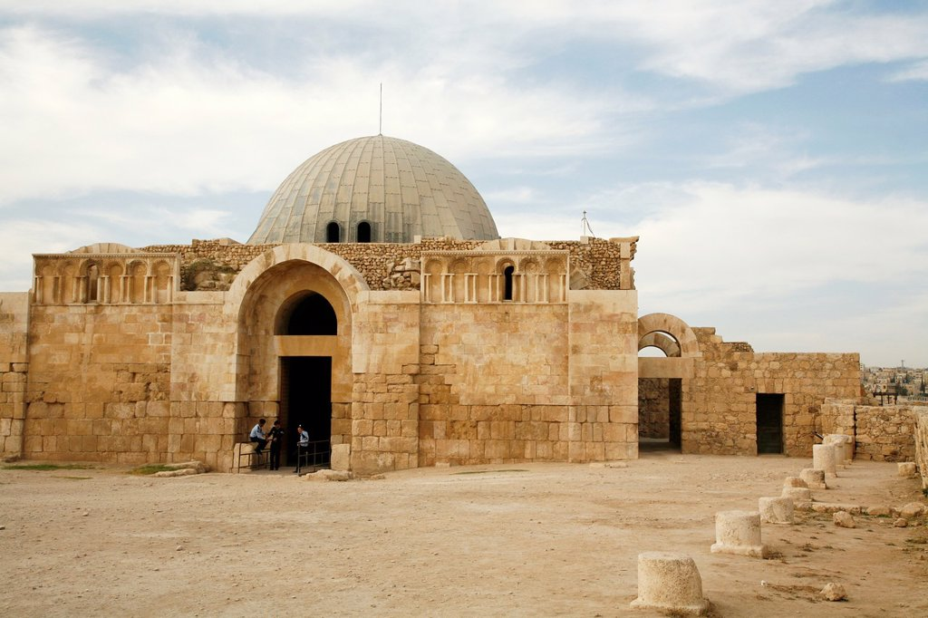 The Umayyad Palace at the Citadel, Amman, Jordan : Stock Photo