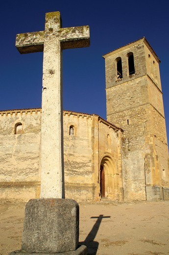 Stock Photo: 1566-1107033 Cross near the Church of Vera Cruz  Segovia Spain
