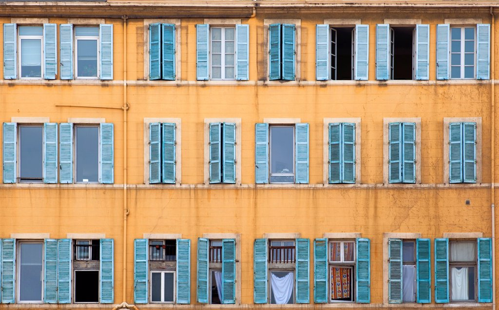 Stock Photo: 1566-1107109 Front of house old downtown neighborhood of Marseille France