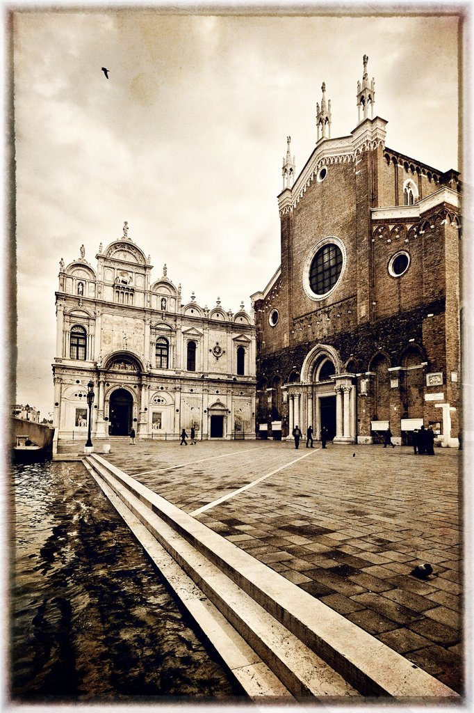 Basilica San Giovanni e Paolo, Castello, Venice, Italy : Stock Photo