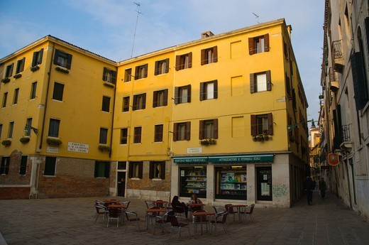 Stock Photo: 1566-1110500 Campiello San Agostin square San Polo sestiere district Venice the Veneto region northern Italy Europe