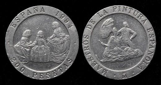 Stock Photo: 1566-1111248 200 pesetas coin, Spain, 1994