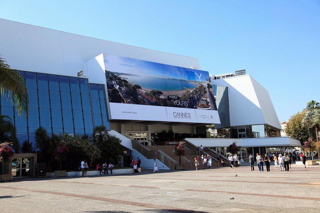 Palais des Festivals, Cannes, Cote d´Azur, French Riviera, Provence, France, Europe : Stock Photo