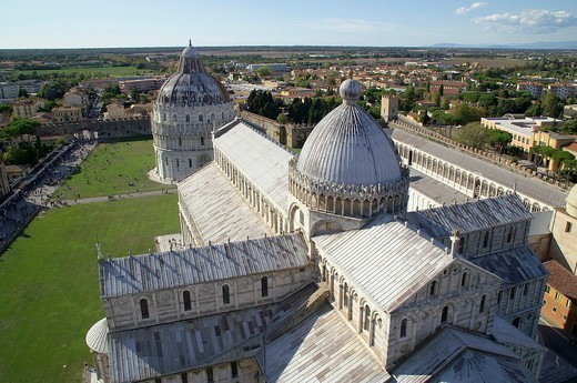 Stock Photo: 1566-1112504 Pisa Italy  Cathedral and Baptistery of Pisa