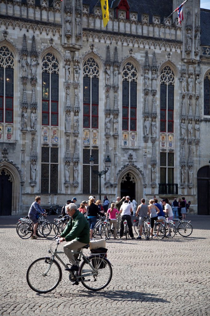 Stock Photo: 1566-1112575 The City Hall in Burg, one of the best places to see about medieval Bruges, Flanders, Belgium