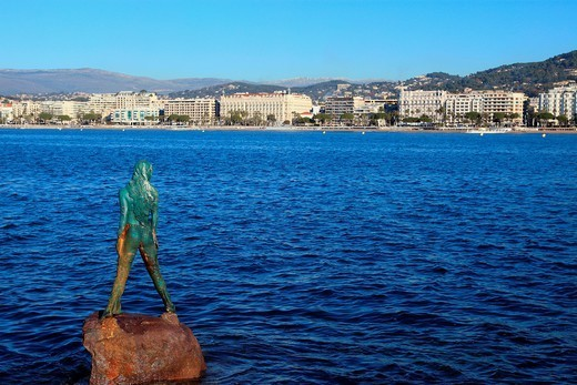 The city of Cannes, Croisette, Alpes-Maritimes, French Riviera, Côte d´Azur, France, Europe : Stock Photo
