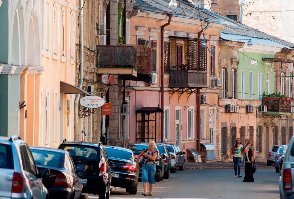 Stock Photo: 1566-1113596 Odessa street scene  Ukraine