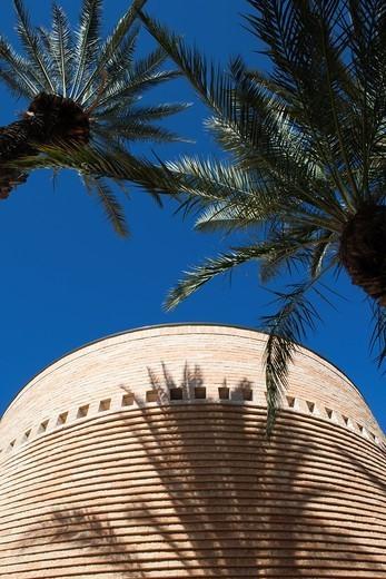 Israel, Tel Aviv, Tel Aviv University, Cymbalista Synagogue, architect, Mario Botta : Stock Photo