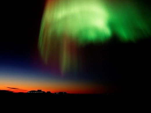 Northern lights, or Aurora Borealis, Iceland : Stock Photo