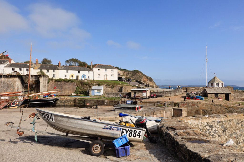 Stock Photo: 1566-1114815 Charlestown, Cornwall, England, UK, Great Britain, Europe  Coastal village scene near the fishing harbour