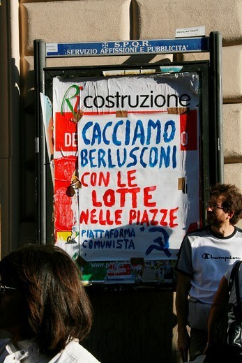 Stock Photo: 1566-1116205 indignados protesters at occupy rome movement rally demo in rome italy 2011