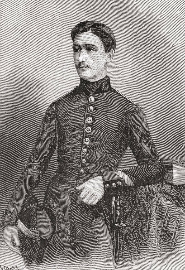 Marie François Sadi Carnot, aged 20,1837 – 1894  French statesman and fourth president of the Third French Republic  From The Strand Magazine published 1894 : Stock Photo