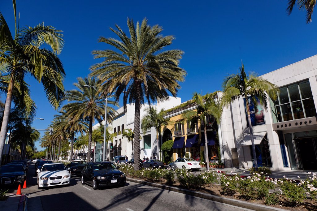 Stock Photo: 1566-1118441 Rodeo Drive  Los Angeles, California, USA