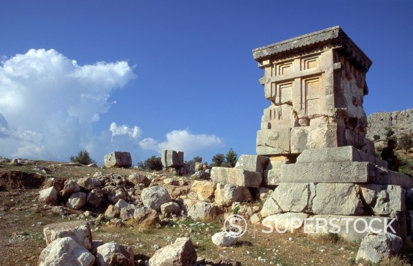 Stock Photo: 1566-1118725 Harpy tomb at the ancient Lycian city of Xanthos, Turkey
