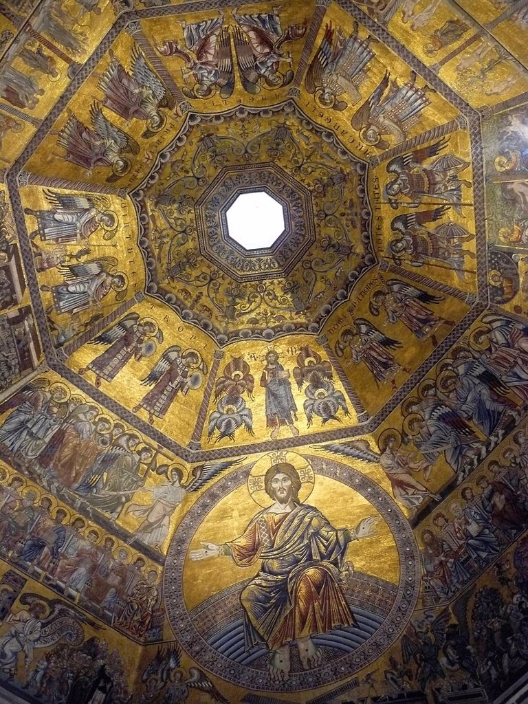 Stock Photo: 1566-1119319 Florence Italy  Inside the dome of the Baptistery of San Giovanni in Florence