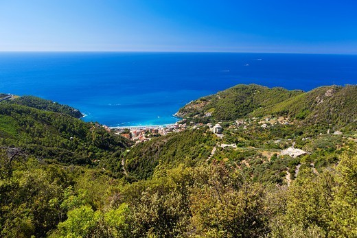 Bonassola, Province of La Spezia, Liguria, Italy : Stock Photo