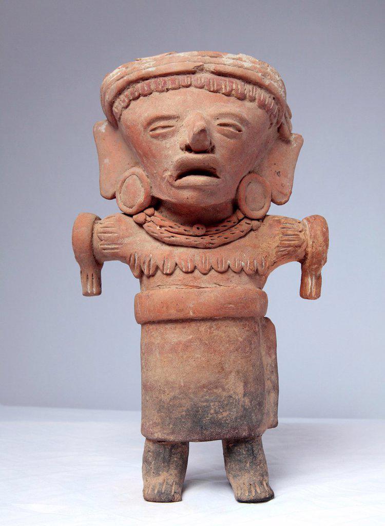 Pre-columbian sculpture 5th century BC, Veracruz, Mexico : Stock Photo