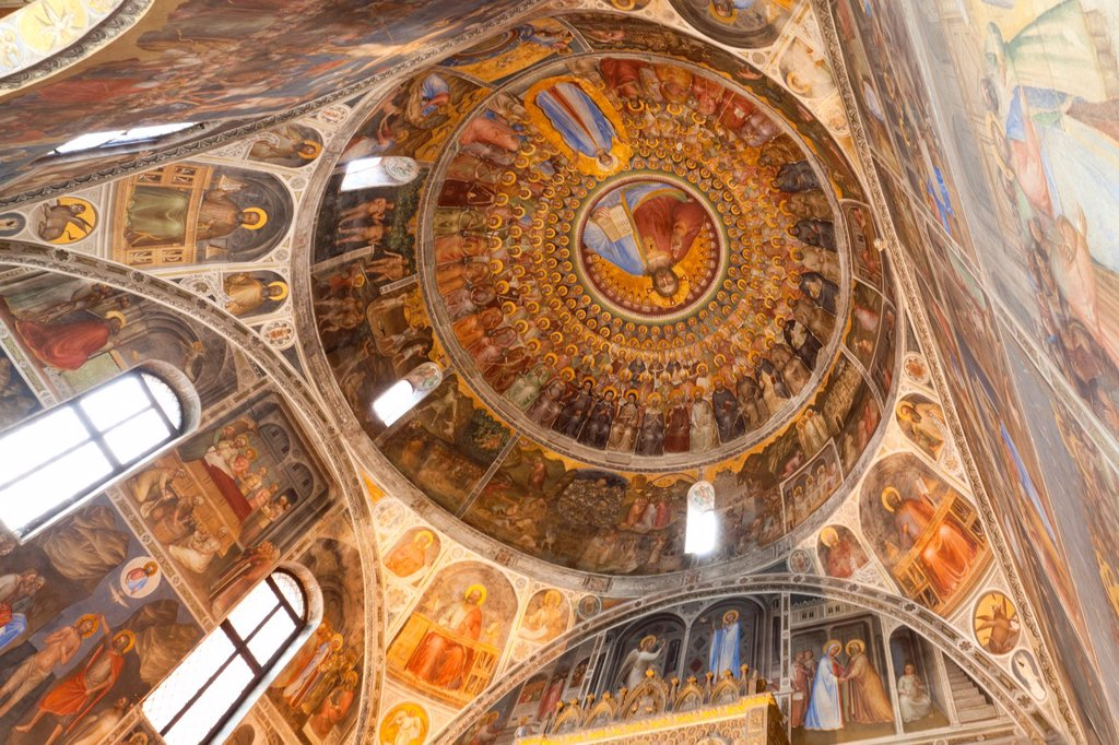 Stock Photo: 1566-1120383 Giusto de Menabuoi frescoes in the Baptistery of the Cathedral of the Assumption of Mary of Padua, Italy, Europe