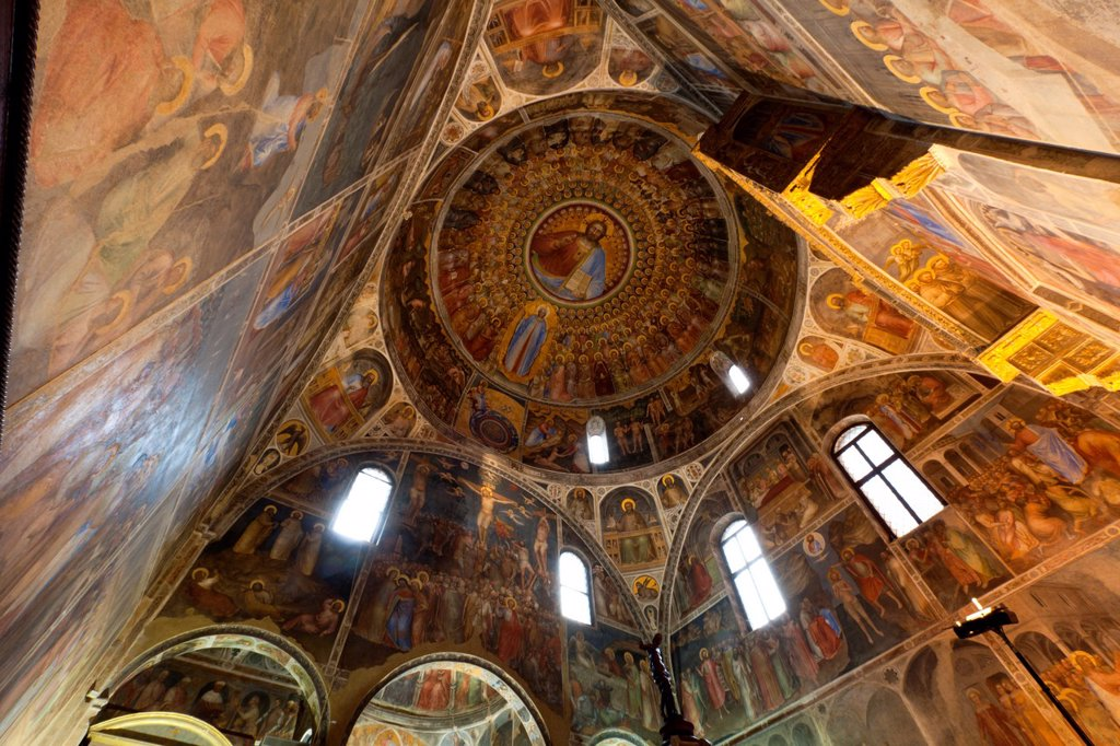 Stock Photo: 1566-1120385 Giusto de Menabuoi frescoes in the Baptistery of the Cathedral of the Assumption of Mary of Padua, Italy, Europe