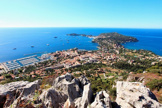 Cap Ferrat and Beaulieu-sur-Mer, Alpes-Maritimes, French Riviera, Côte d´Azur, France, Europe : Stock Photo