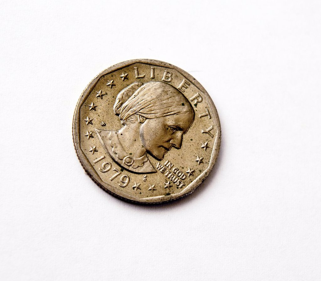 Stock Photo: 1566-1121067 A 1979 Susan B Anthony U S dollar coin is seen in New York The unpopular coin, introduced in 1979, never gained any traction in the Mint´s bid to replace the paper dollar and in 2005 Congress required dollar coins to feature a president Because demand is. A 1979 Susan B Anthony U S dollar coin is seen in New York The unpopular coin, introduced in 1979, never gained any traction in the Mint´s bid to replace the paper dollar and in 2005 Congress required dollar coins to feature a president Because