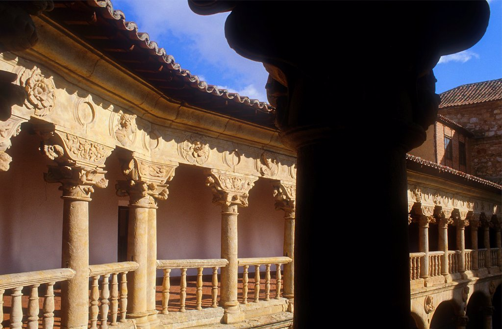 Stock Photo: 1566-1122236 Cloister of Santa María de las Dueñas convent,Salamanca,Spain