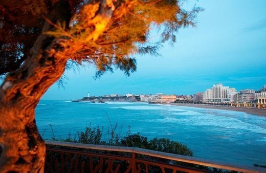 Stock Photo: 1566-1123234 Grande Plage Beach, Biarritz, Aquitaine, Basque Country, Pyrenees Atlantiques, 64, France.