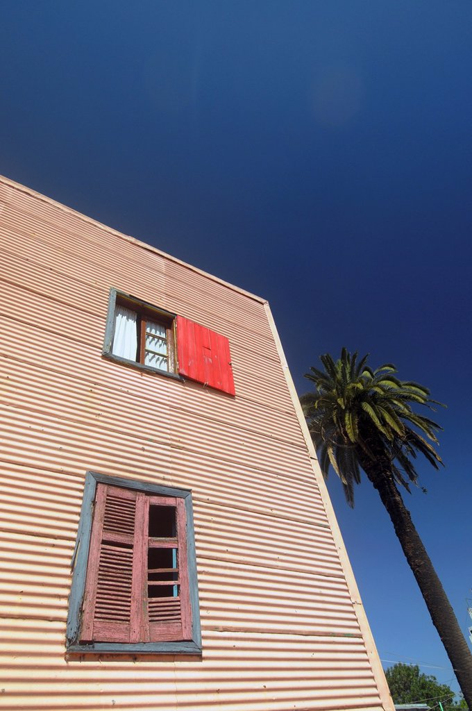 Stock Photo: 1566-1123387 Streetscape of La Boca, Buenos Aires, Argentina