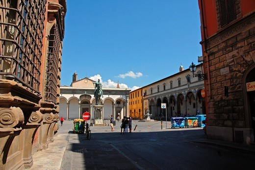 Piazza della Santissima Annunziata, Florence, Tuscany, Italy, Europe : Stock Photo