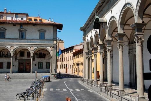 Stock Photo: 1566-1123402 Piazza della Santissima Annunziata, Florence, Tuscany, Italy, Europe