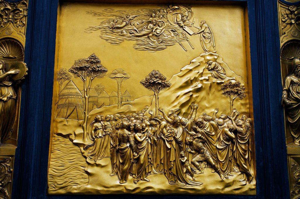 Stock Photo: 1566-1125802 The Paradise door of the Ghiberti«s Baptistry, Florence, Tuscany, Italy.