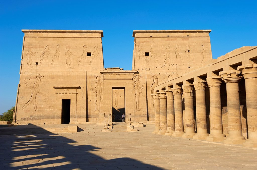 Stock Photo: 1566-1127640 Egypt, Nile valley, Aswan, Agilkia island, Philae, UNESCO World Heritage Site