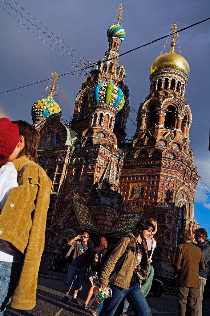 Stock Photo: 1566-1128483 Church of the Bleeding Savior  St  Petersburg  Russia.