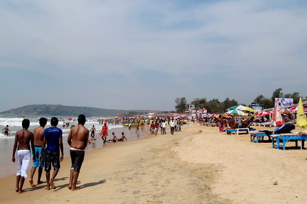 Stock Photo: 1566-1128537 India, Goa region, Goa, Calangute beach, daily life