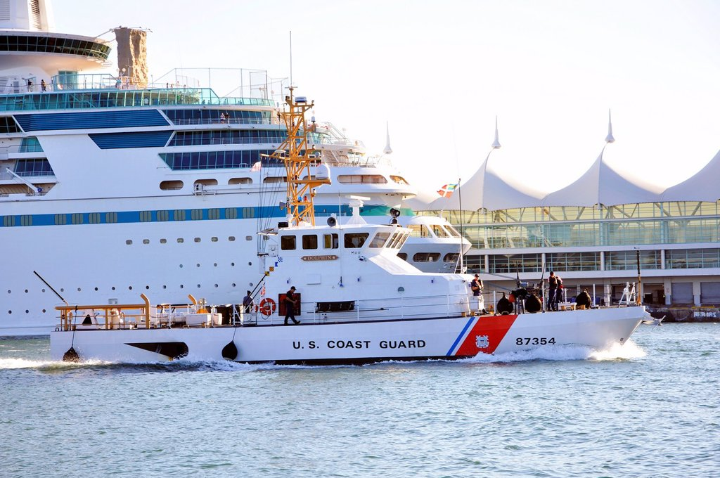 US Coast Guard, Miami Port, Florida, USA : Stock Photo