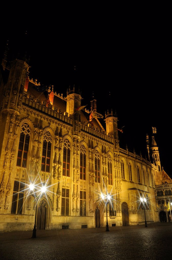 Bruges, Belgium - Town Hall, Burg Square : Stock Photo
