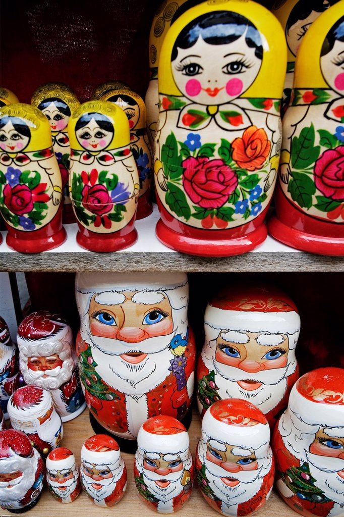 Stock Photo: 1566-1128720 Matrioshka dolls, St  Petersburg, Russia.