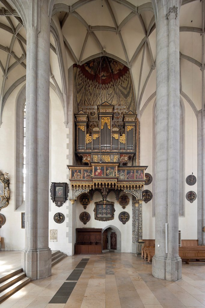 Stock Photo: 1566-1128783 Georgs Church, lateral organ, Noerdlingen, Bavaria, Germany