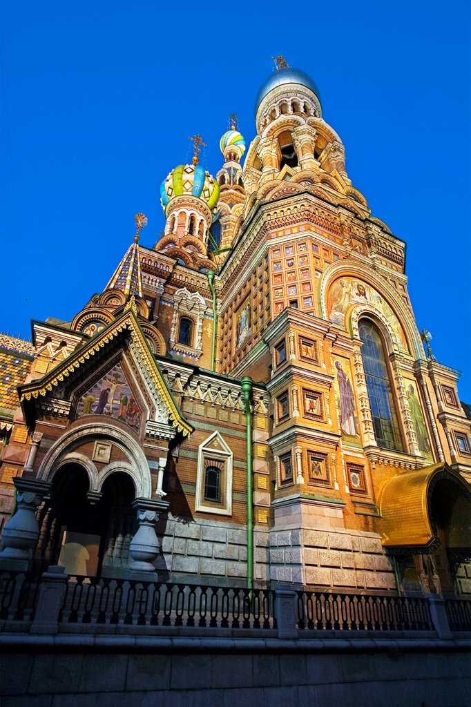 Stock Photo: 1566-1129009 Church of the Bleeding Savior  St  Petersburg  Russia.