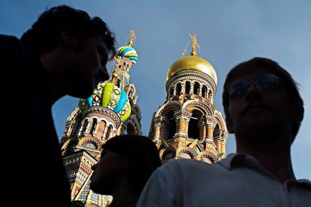 Stock Photo: 1566-1129273 Church of the Bleeding Savior  St  Petersburg  Russia.
