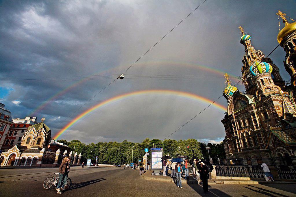 Church of the Bleeding Savior  St  Petersburg  Russia. : Stock Photo