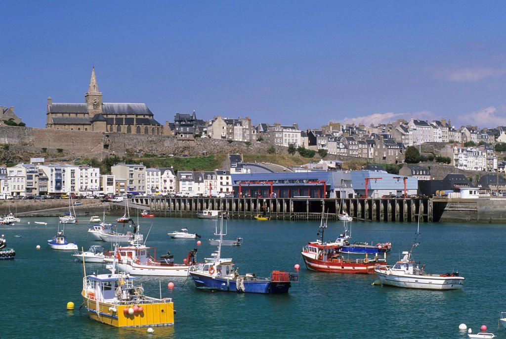 Stock Photo: 1566-1129887 port of Granville, Mont-Saint-Michel bay, Manche department, Normandy region, France, Europe