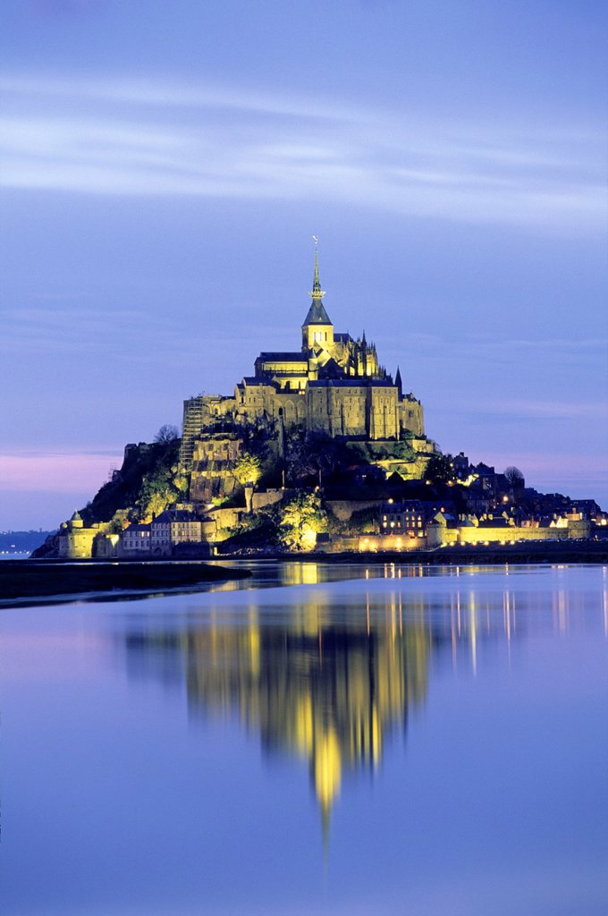 Stock Photo: 1566-1129902 Mont-Saint-Michel bay, Manche department, Normandy region, France, Europe