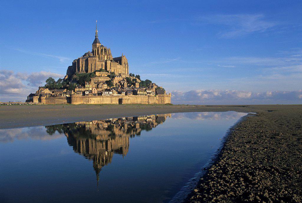 Stock Photo: 1566-1130495 Mont-Saint-Michel bay, Manche department, Normandy region, France, Europe