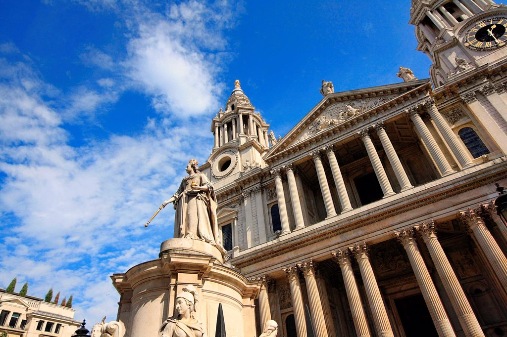 Stock Photo: 1566-1131544 St Paul´s Cathedral, London, Great Britain